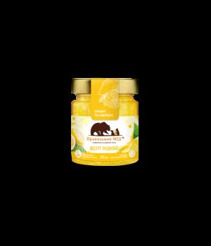 Мед з лимоном і імбиром ТМ Правильний мед с/б 250г