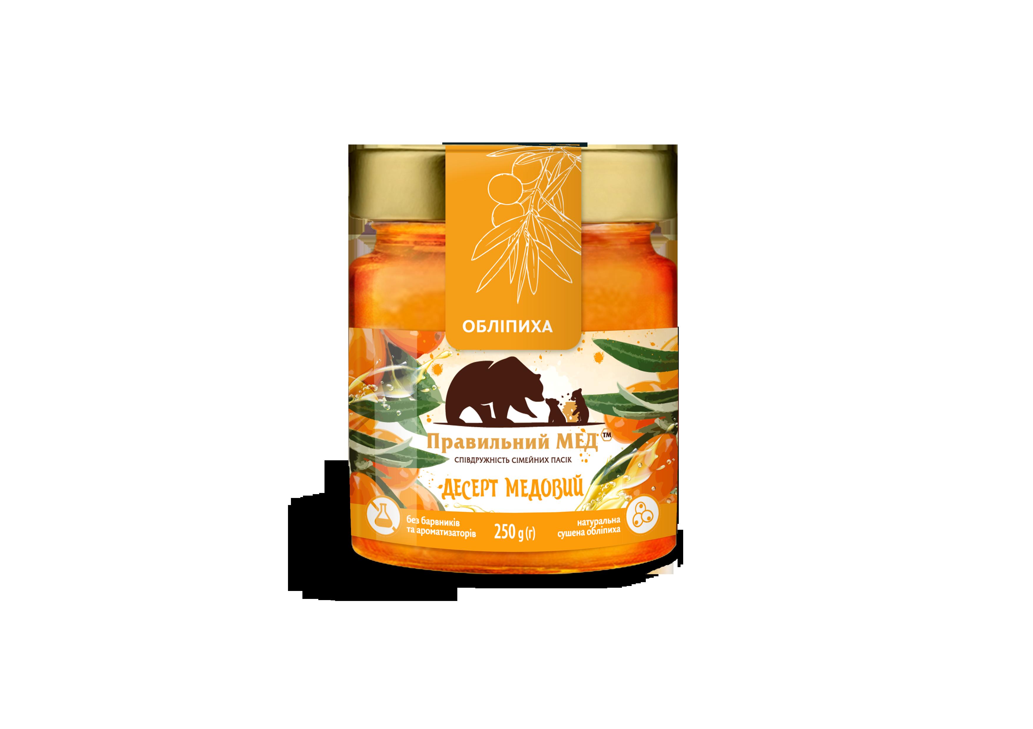 Мед с облепихой ТМ Правильный мед с/б 250г