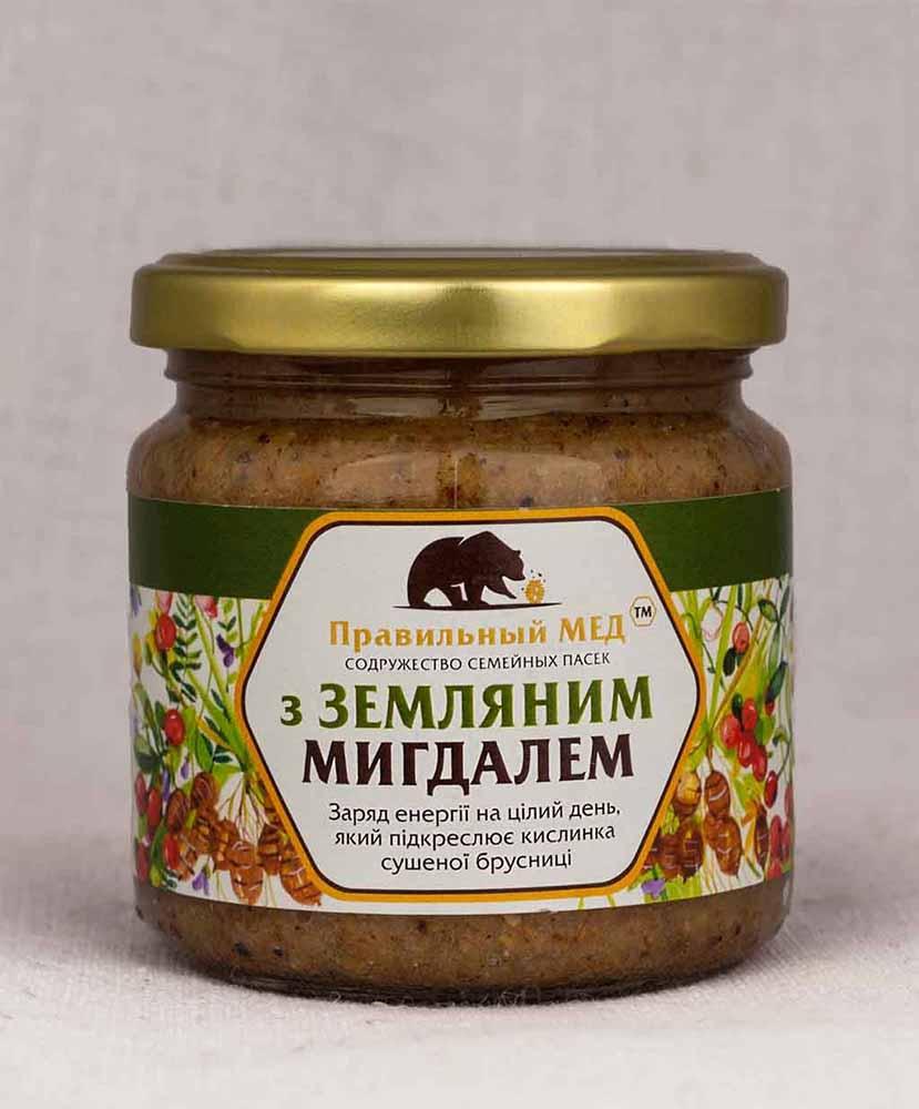 Земляной миндаль в меду (чуфа). Крем-мед с добавлением орехов.