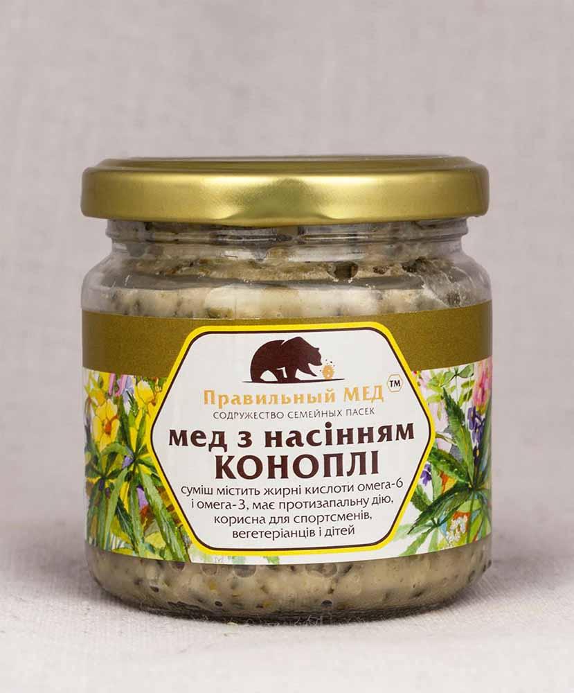 Мед с семенами конопли. Крем-мед с добавкой семян