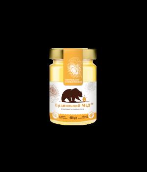 Соняшниковий мед ТМ Правильний мед с/б 400г
