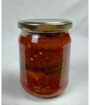 Консервированные баклажаны в томатном соусе