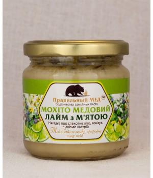 Мед с лаймом и мятой (мохито) фото